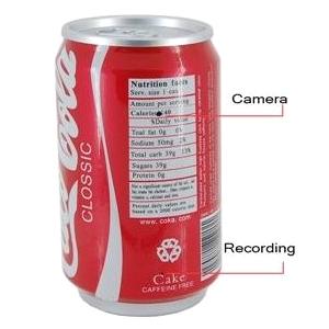 Coke Can Hidden Camera